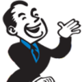 CarpetWays & WoodWays Cartoon Man Logo