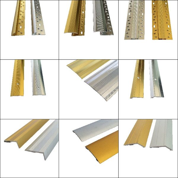 Range of flooring metal trims