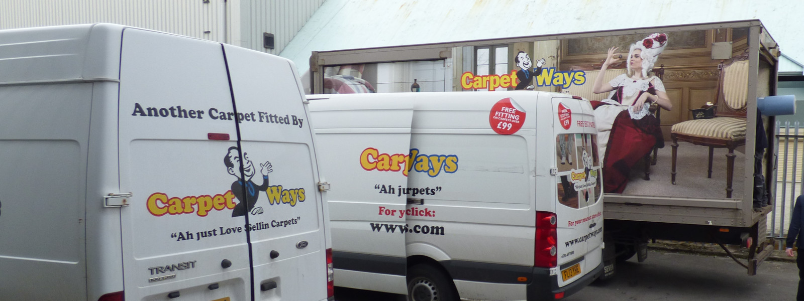 CarpetWays Delivery Vans and Lorry