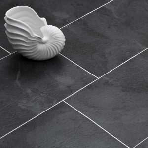 Estilo Luxury Vinyl Tile Dry Back Black Cleft Slate Swatch