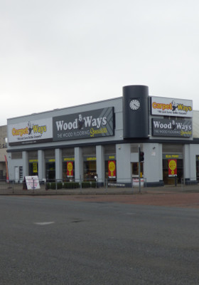 Streetview of CarpetWays Manchester showing Clock Tower