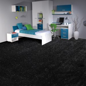 Black Sparkle Carpet Bedroom Image