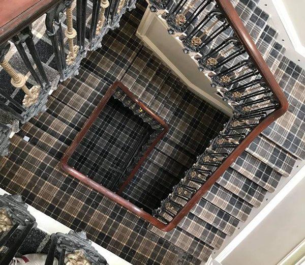 Tartan Stairs Fitting Job 5