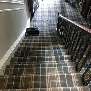Tartan Stairs Fitting Job 7