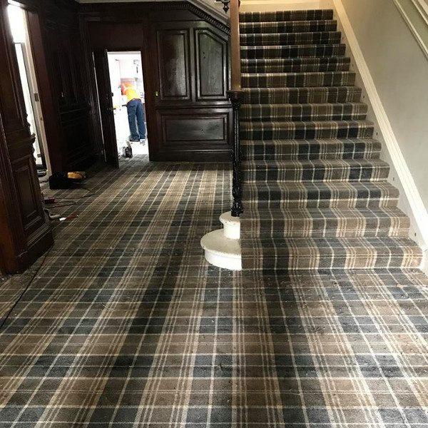 Classic Tartan Carpet Staircase 2