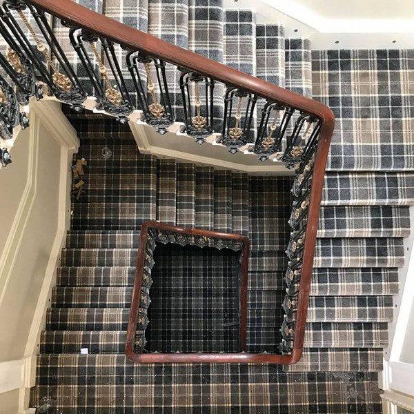 Classic Tartan Carpet Staircase 1